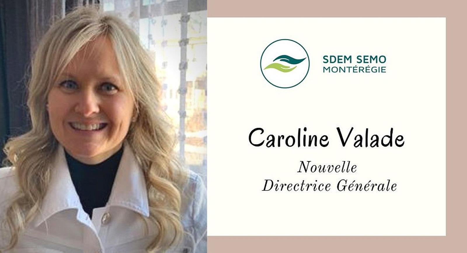Communiqué > Nomination d'une nouvelle directrice générale à la tête du SDEM SEMO Montérégie